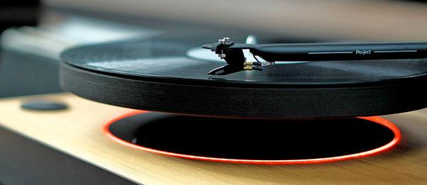 mag lev audio schwebender Platenteller