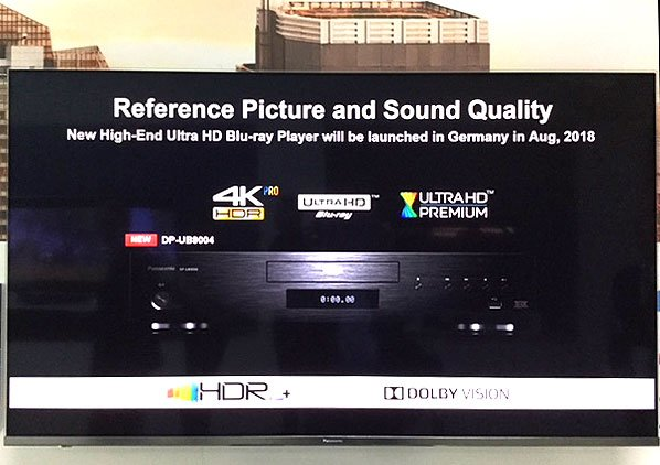 TV-Präsentation DP-UB9004