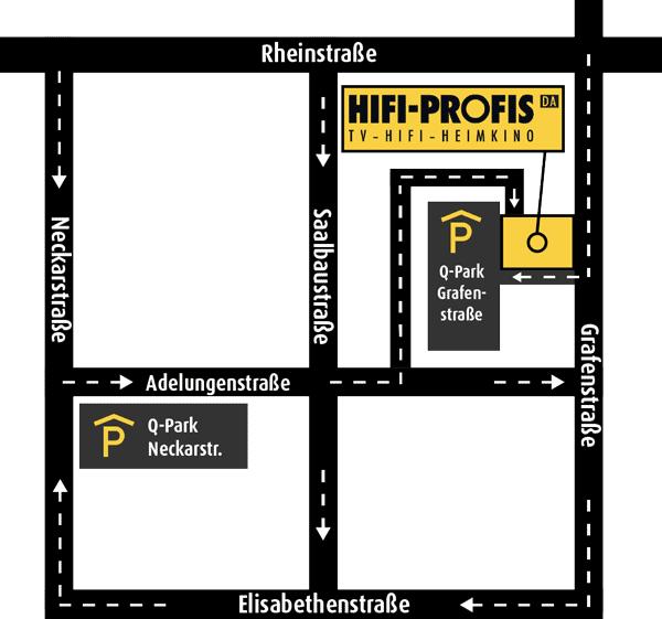 HIFI-PROFIS Darmstadt - Anfahrt