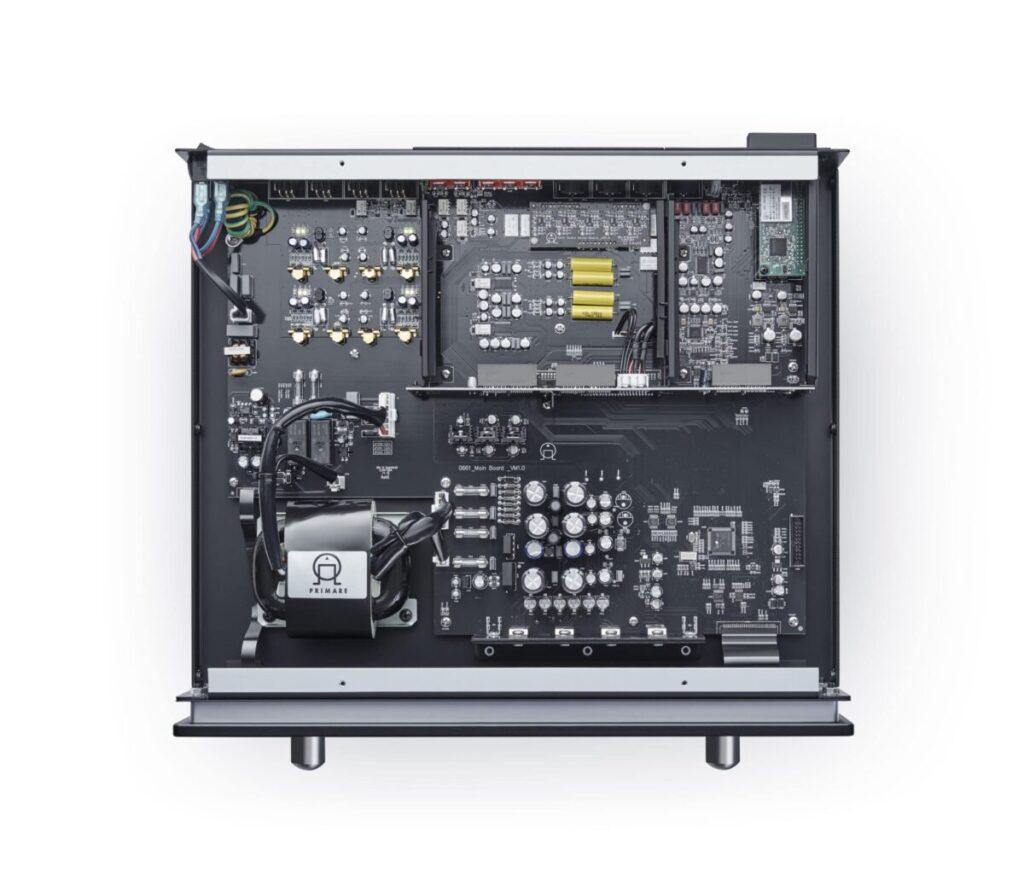 Primare PRE35 Vorverstärker Draufsicht offen
